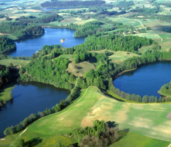 Aerial view at Gościniec