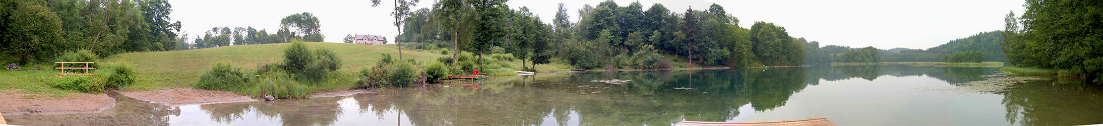 Panorama - the lake under the guesthouse